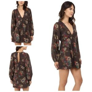 Free People Strawberry Floral Print Dress Tunic